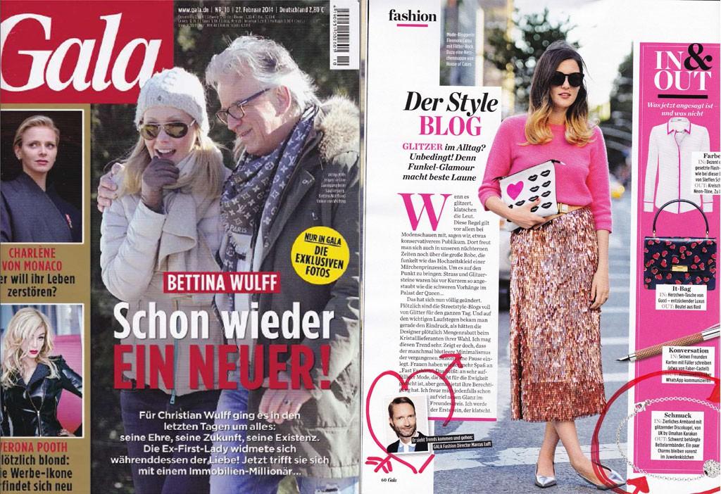 Ausgabe: Februar 2014 - Zierliches Armband mit glitzernder Discokugel.