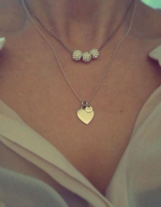 Kette Heartbeat und Glamball