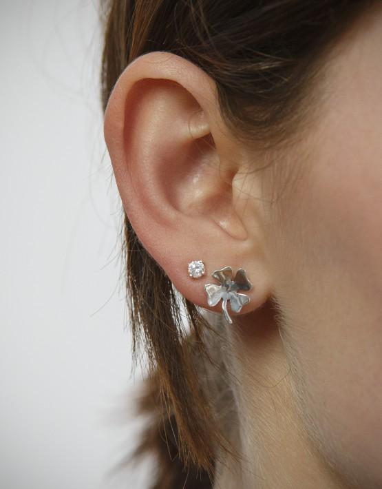 Ohrring Kleeblatt