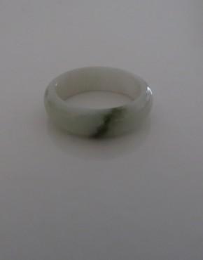 Jadering, weiss mit grünem Streifen