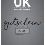 Gutschein 25 € Umahan Karakan